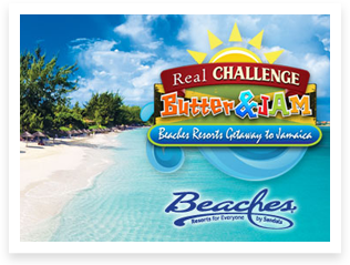 Challenge Dairy Butter & Jam Beaches Resorts Getaway Sweepstakes